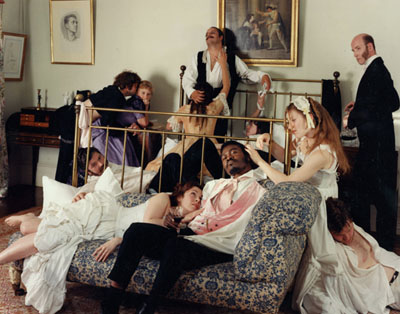 Yinka Shonibare MBE (b. United Kingdom, 1962). Diary of a Victorian Dandy: 03.00 hours, 1998. Chromogenic photograph, 72 x 90 in. Collections of Peter Norton and Eileen Harris Norton, Santa Monica. Image courtesy of the artist, Stephen Friedman Gallery, London, and James Cohan Gallery, New York. © the artist