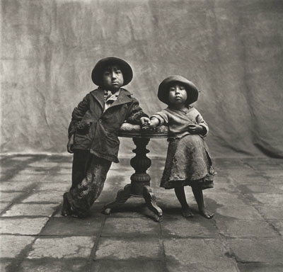 IRVING PENNCuzco Children, 1948Platinum palladium print mounted to aluminumc. 48 x 52 cmEdition of 60© Condé Nast Publications