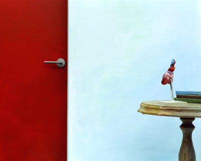 Hyun Mi YOO, Red door and heart (Still life series), 150x120cm 2007 C-print, © Hyun Mi YOO