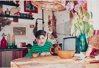 Vlada in the kitchen Kazan 1992 © Bertien van Manen