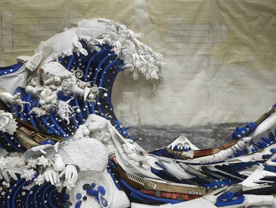 La grande vague (Die grosse Welle), Inkjet-Print, Edition von 40, 60 x 80cm, 2007© Bernard Pras