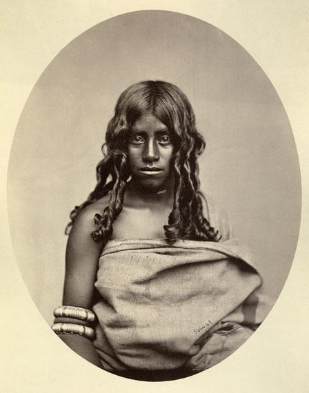 Albert Thomas Watson Penn: Toda-Woman, 1870-80, Albumen Print © Staatliche Museen zu Berlin, Ethnologisches Museum