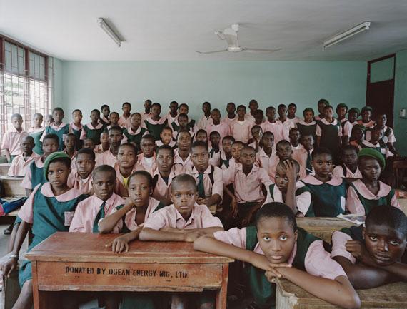 Kuramo Junior College, Victoria Island, Lagos, Nigeria, Basic 7 / Junior Secondary Level 1, Mathematics, June 22nd, 2009© Julian Germain
