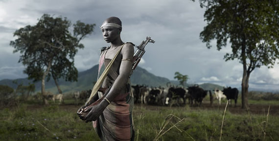 Joey L., Portrait of Kolotola, Mursi Tribe, 2009, Courtesy of Stephen Cohen Gallery, Los Angeles