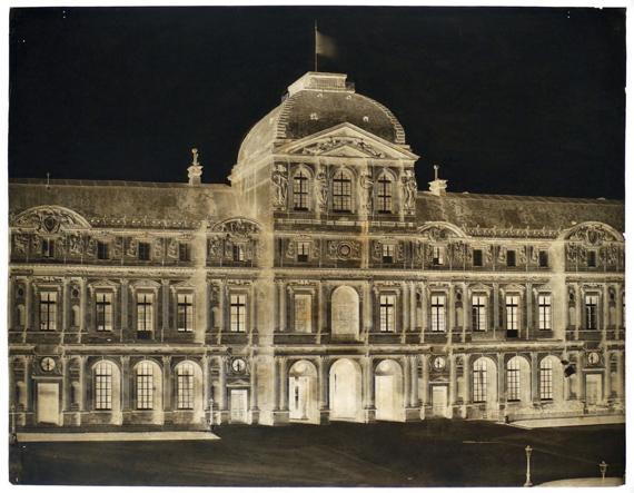Edouard Baldus (1813-1889) Le Louvre Grand Pavillion de L'Horloge, 1854 Albumen print on original mount,27.5 x 19.5cm