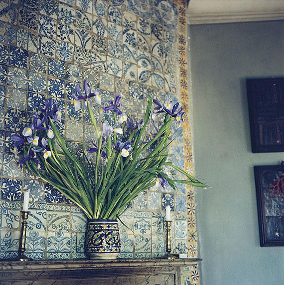 Yto BarradaIris sur la cheminée (Irises on the Mantel) (Schwertlilien auf dem Kamin), 2009/2010C-Print, 100 x 100 cm© Yto Barrada & Galerie Sfeir-Semler, Hamburg/Beirut