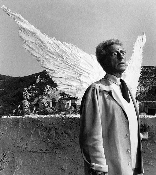 Lucien Clergue: Cocteau et le Sphinx, 1959