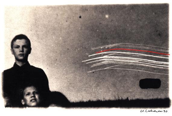 Igor Savchenko. 9.90-3, 1990, 3rd printing, 1993. Toned silver gelatin print, pencil