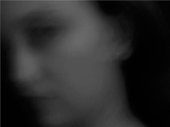 David Lynch: Woman Looks #1, Digigraphie, Aufl. 6, 40 x 53 cm