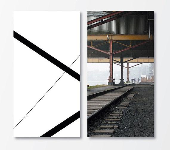 "Kurt Laurenz Theinert: ""Gegenwelt Münster"", 2009, Lamdaprint auf AluDibond, 2-teilig, je 115 x 60 cm"