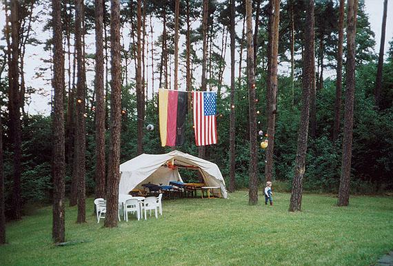 Margit Emmrich: Bräuningshof bei Erlangen, Schülertreffen, 03.08.1989