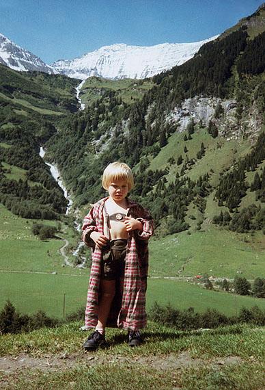 Margit Emmrich: Berchtesgaden,Julius vor dem Watzmann, 18.09.1989