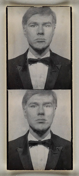 Lot 256Andy Warhol, two uncut photobooth polaroid self-portraits, early 1960s, Estimate $12,000 to $18,000.