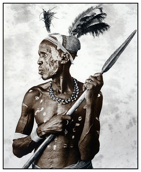 Biwa (44), Picture I, Karo Tribe, Ethiopia 2009Silver Gelatin Print, tonedEdition of 1050 x 60 cm, 77 x 86 cm© Jan C. Schlegel / Courtesy of Bernheimer Fine Art Photography