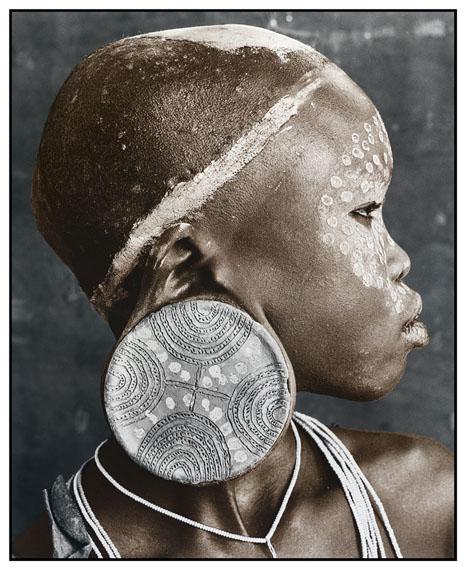 Nale (18), Sure Tribe, Ethiopia 2010Silver Gelatin Print, tonedEdition of 1050 x 60 cm, 77 x 86 cm© Jan C. Schlegel / Courtesy of Bernheimer Fine Art Photography