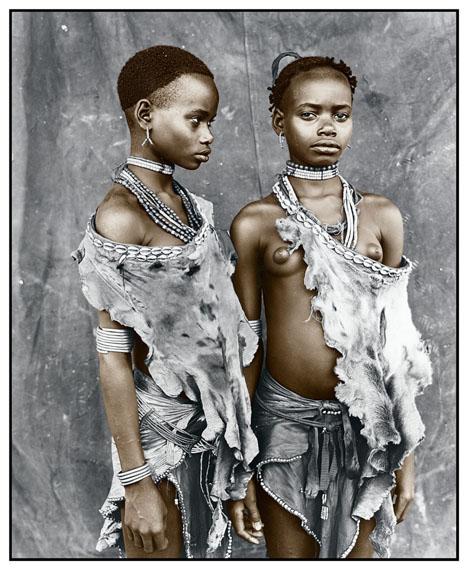 Meisa & Bona (13), Hamer Tribe, Ethiopia 2008Silver Gelatin Print, tonedEdition of 1050 x 60 cm, 77 x 86 cm© Jan C. Schlegel / Courtesy of Bernheimer Fine Art Photography
