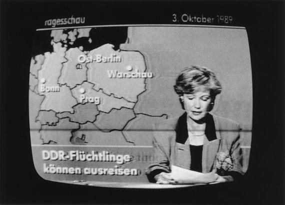 Ulrich Wüst: Berlin, Fernsehbildaufzeichnung von der Tagesschau, 03.10.1989