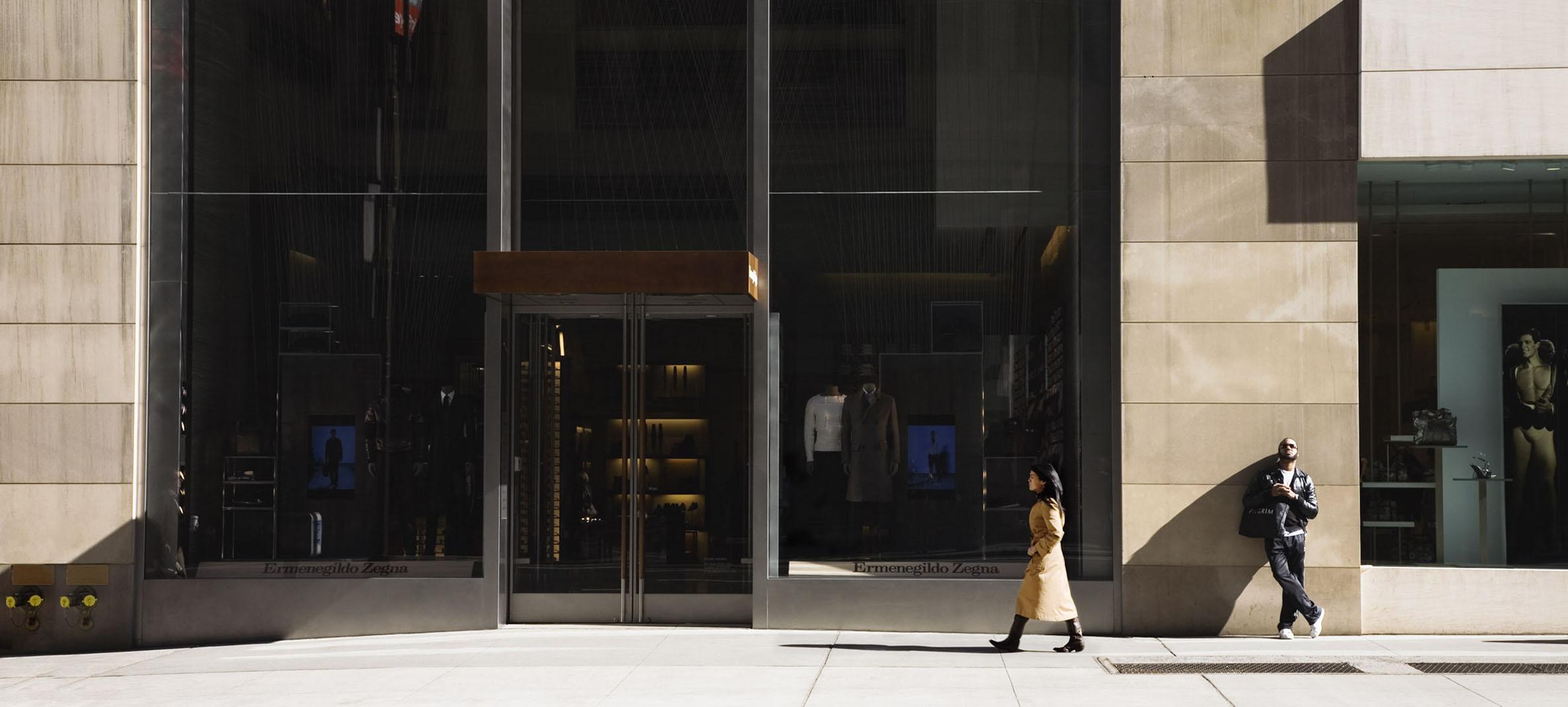 Gudrun Kemsa: Fifth Avenue 3, 2009, 86 x 198 cm, C-Print, Diasec