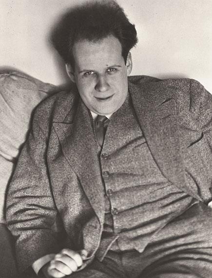 """André Kertész""""EISENSTEIN, PARIS"""". 1929Gelatin silver print, 1940's. 9 ¾ x 7 ½ in. (10 x 8 in.)"""