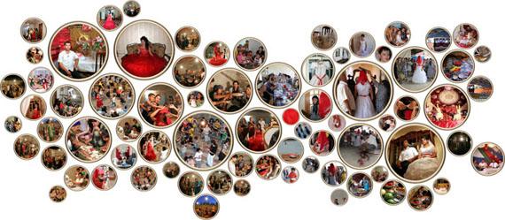 "Fakhriyya Mammadova, Wedding: ""Girlish Dreams"", 2013, 75 digital photographs, wooden frames, variable dimensions"