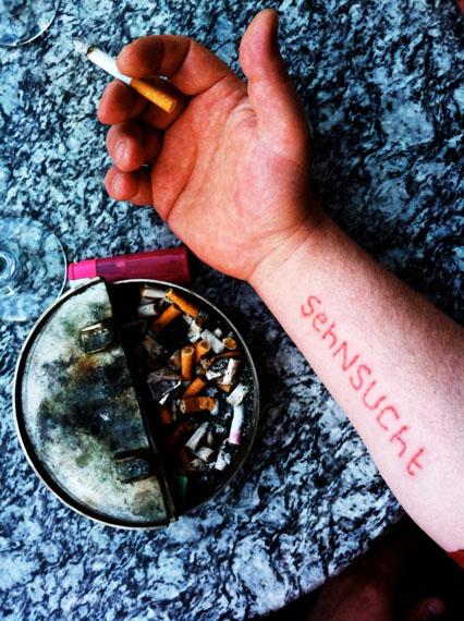 Natascha Stellmach: Day 2, Reinhard lets go of Longing, inkless tattoo documentation, 2013