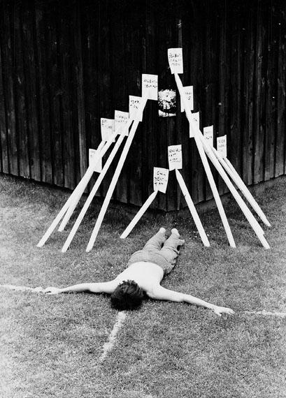 Peter Weibel, Sozialmatrix, Festival der konkreten Poesie, May 1971, Hanau © Peter Weibel
