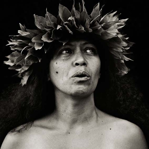 Dana Gluckstein, Chanter Hawaii with Tear, Hawaii, 1996, Archival Pigment Photograph printed on Moab Entrada paper , 71 x 71 cm (28 x 28 inches)