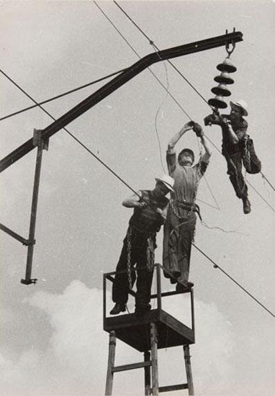 O.A. Lander. Electrification of the road from Rostov to Ilovayskaya. May, 1961