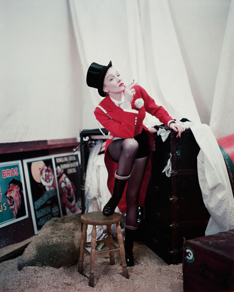 Marlene Dietrich, Zirkuskostüm, 1953 © Milton H. Greene