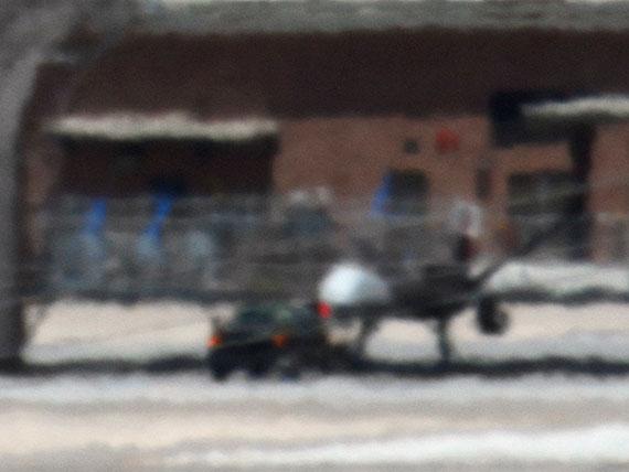 Trevor Paglen, Reaper Drone: Indian Springs, NV; Distance – 2 miles, 2010. Courtesy of the artist and Metro Pictures,         New York; Altman Siegel, San Francisco; Galerie Thomas Zander, Cologne. © Trevor Paglen