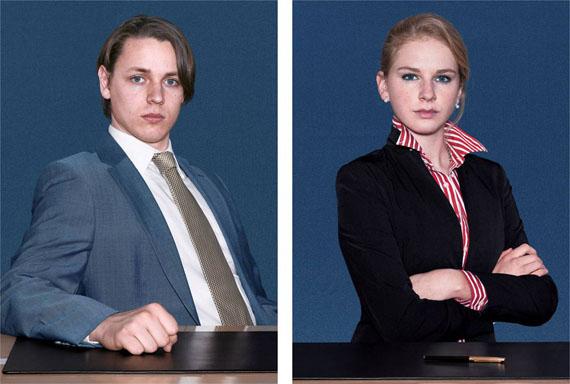 """Michael Schäfer: aus der Serie """"Les acteurs"""", 2007, dig. c-prints, je 104 x 75 cm"""