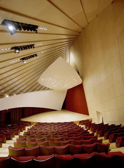 Manfred Hamm: Luxemburg, Philharmonie, Kammermusiksaal, 2012, Farbfotografie, Ed.III, 100 x 80 cm