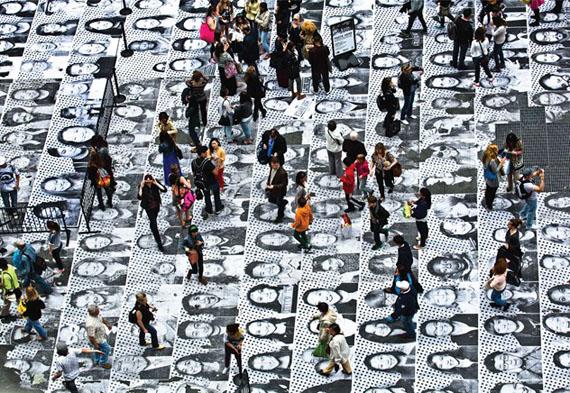 action at times square, nyc, 2013 © jr jr-art.net