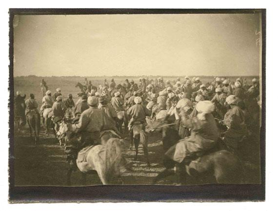 250. Paul Nadar (1856-1939)Paul Nadar's Journey in Turkestan. August - November 1890.The bozkachi.Vintage silver print.