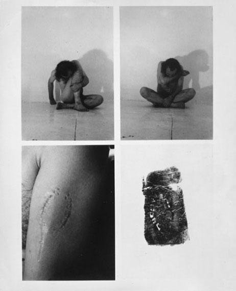 Vito AcconciTrademarks (document of the activity), 1970Silbergelatine-Abzug, 25,3 x 20,7 cmSammlung Fotomuseum Winterthur© Vito Acconci