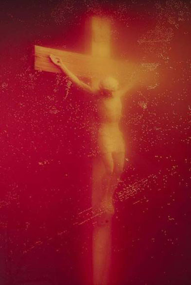 Andres SerranoPiss Christ, 1987Cibachrome26 x 19 in. Signed, titled, dated in pencil, and uniquely inscribed on verso. Est. US$150,000–175,000