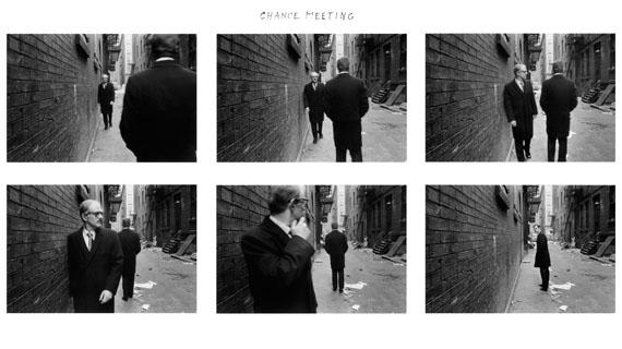 Duane Michals, Chance Meeting, 1970 © Duane Michals Courtesy Galerie Clara Maria Sels / Admira Milan
