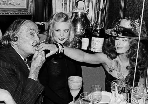 Roxanne LowitSalvador Dali, Janet Daly and a Recipient of a Kiss, New York, 1979Gelatin silver print16 x 20 in.Est. US$4,000–6,000