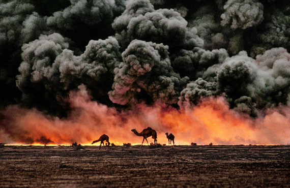 Camels and oil fire, Kuwait, 1991, C-Print, 65 x 96,6 cm, © Steve McCurry / Magnum Photos