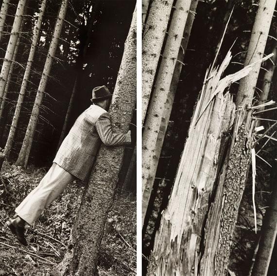 Anna & Bernhard Blume: Aus der Serie: Im Wald, Metaphysik ist Männersache (Detail), 1991