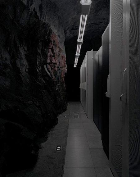 "Yann MingardBahnhof.se, ""Pionen"", High security computer centre, Stockholm, Sweden, 2011Main room hewn into the rock.Inkjet print, 70 x 55.4 cm © Yann Mingard"