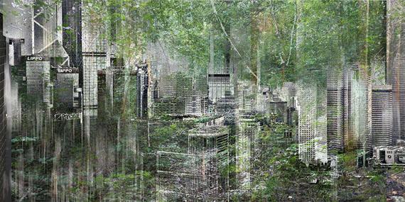 Sabine Wild: Hongkong_8756_1, 2014, C-Print auf Hahnemühle Photorag / Aludibond, 100 x 200 cm, Ed. 5 + 1 AP