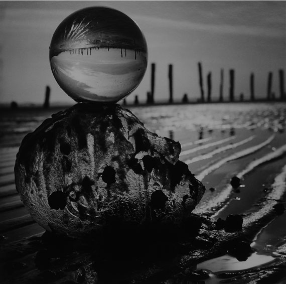 Arthur Tress, Glass Head on Beach, 1971