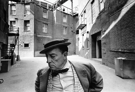 Buster Keaton, MGM Back Lot, 1965© Lawrence Schiller