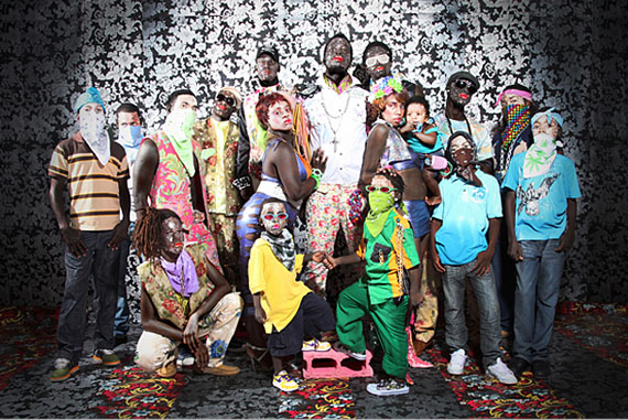 Ebony G. Patterson: Entourage, 2011, from the series Fambily