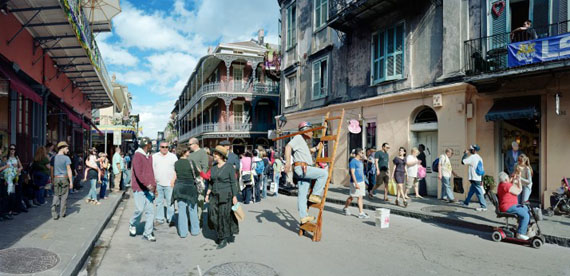 Scott McFarland, Man on Ladder, Royal Street, New Orleans, 2012, Courtesy of the artist
