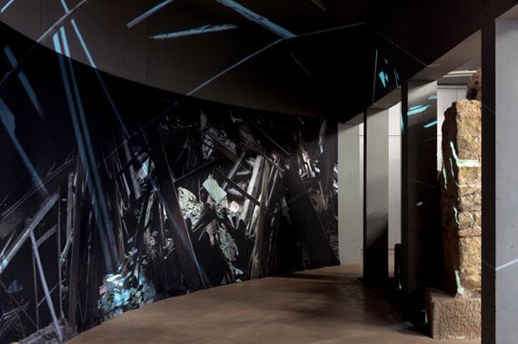 Astrid Busch: Quartier du mort Homme, 2013, Installation, 6,40 x 4,20 cm
