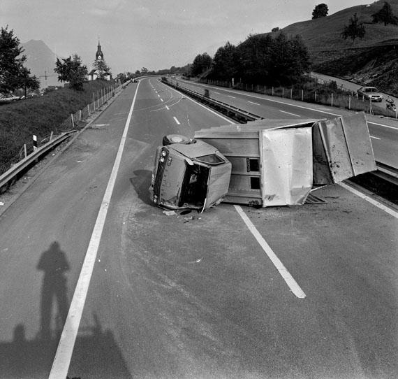 Arnold Odermatt: Buochs, 1981, Baryt Abzug, 30 x 40 cm © Urs Odermatt, Windisch/CH