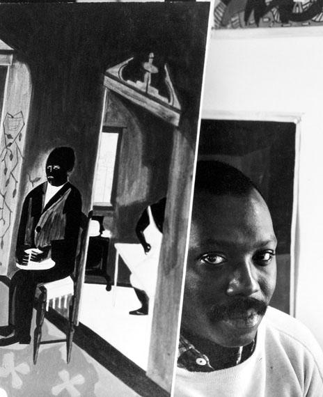Arnold Newman: Jacob Lawrence, painter, educator, printmaker, Brooklyn, New York, 1959