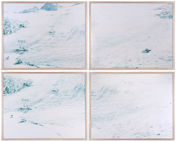 Lot 199Walter Niedermayr, Vedretta Presena I, 1996Four chromogenic prints, each signed, titled, dated and editioned 3/6£7,000 - 9,000
